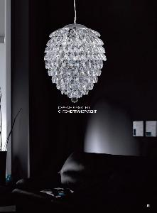 Светильник подвесной Crystal Lux Charme SP3+3 LED CROMO/CRYSTAL