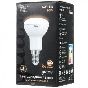 Лампа Gauss LED Reflector R50 E14 6W 2700K