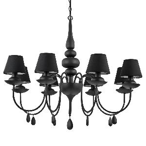 Люстра Ideal Lux Blanche SP8 Nero